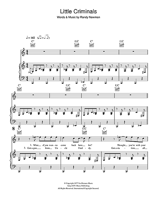 Little Criminals Sheet Music
