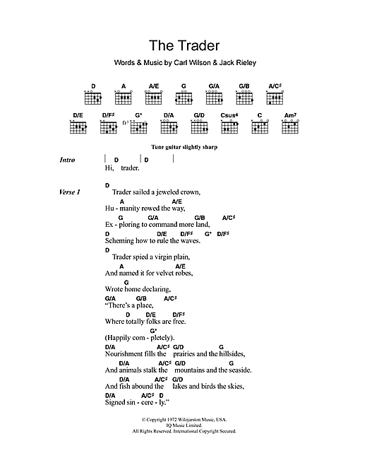 The Trader Sheet Music
