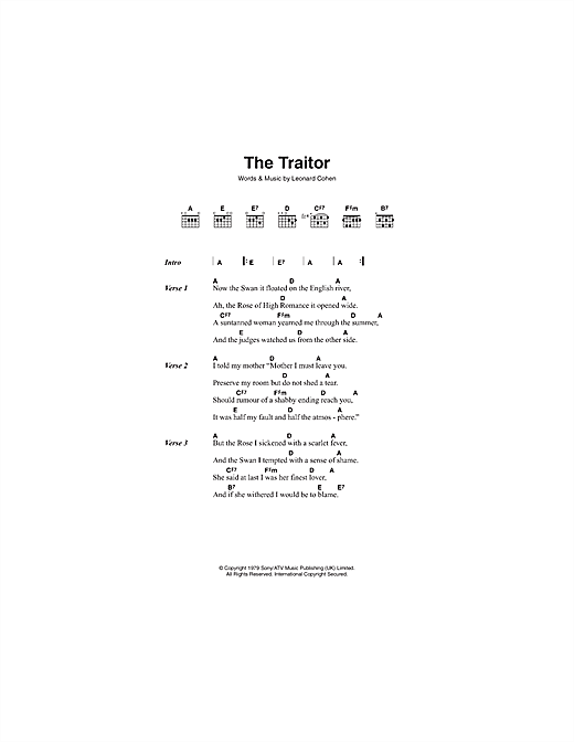 The Traitor Sheet Music