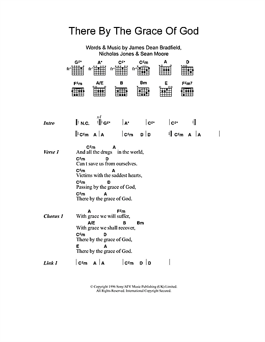 There By The Grace Of God Sheet Music