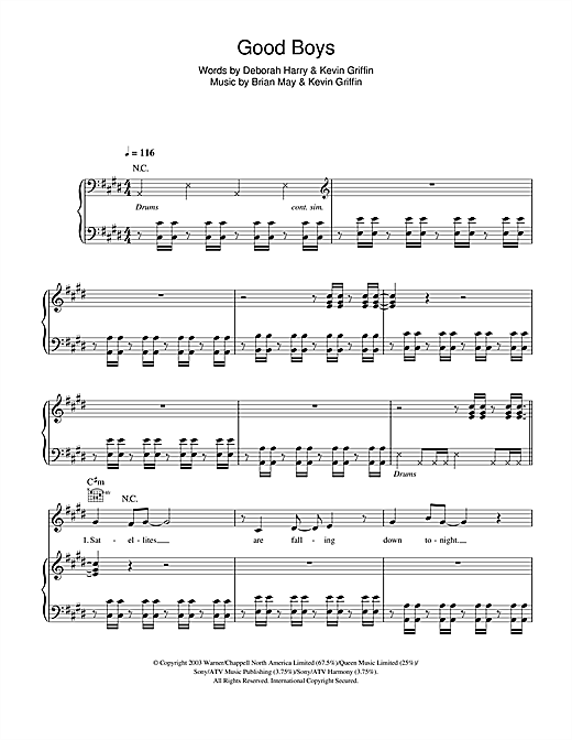 Good Boys Sheet Music