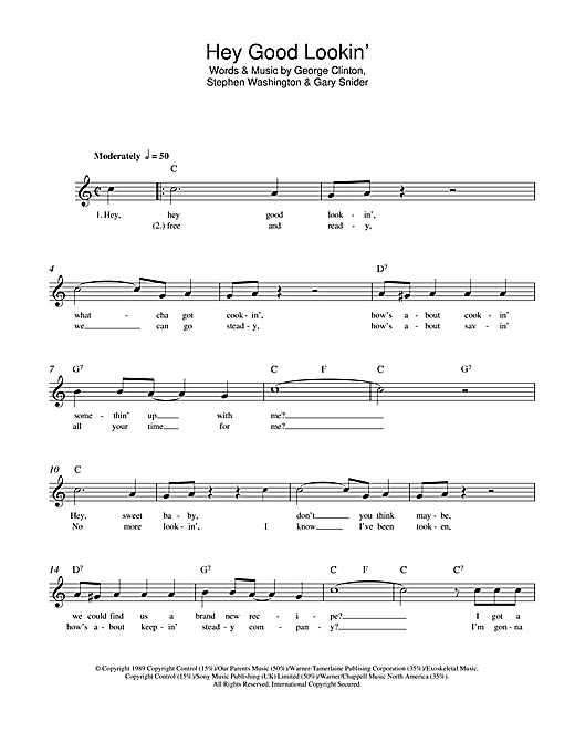Hey Good Lookin Chords By Hank Williams Melody Line Lyrics