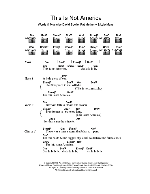 This Is Not America (Guitar Chords/Lyrics)