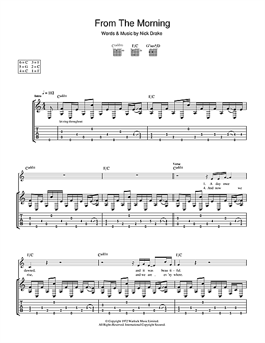 From The Morning (Guitar Tab)