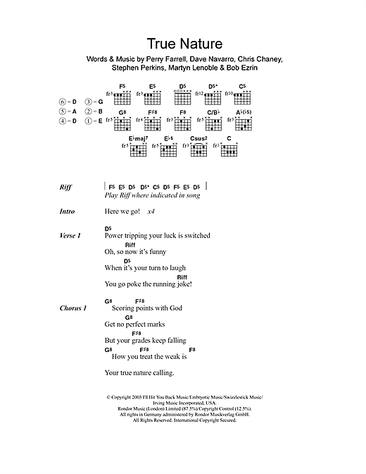 True Nature Sheet Music