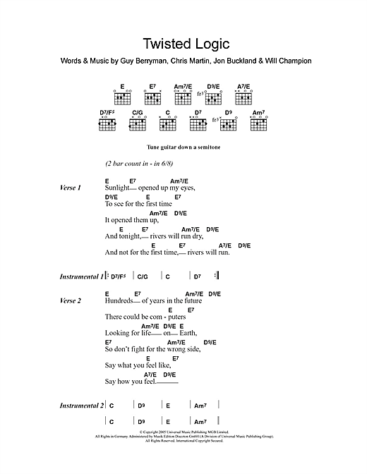 Twisted Logic Sheet Music