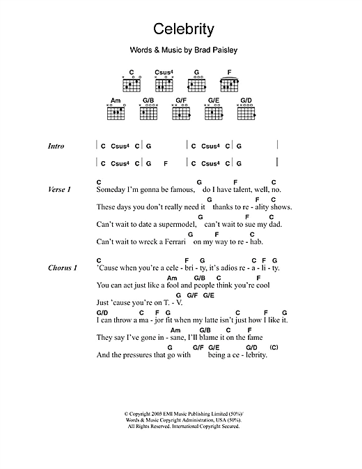Brad Paisley Chords & Tabs : 575 Total @ Ultimate-Guitar.Com