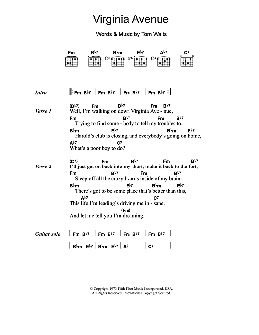 Virginia Avenue Sheet Music