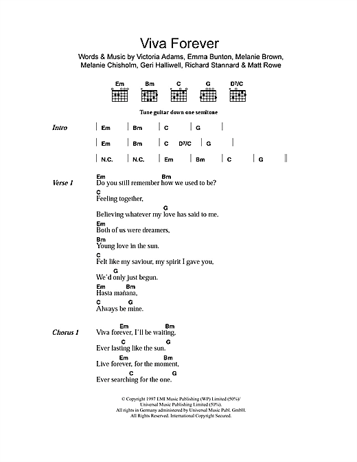 Viva Forever (Guitar Chords/Lyrics)