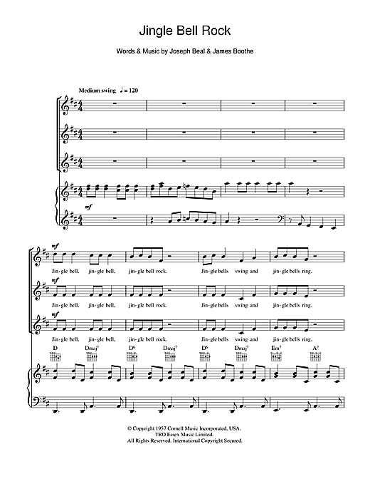 Jingle Bell Rock Choral Ssa Sheet Music By By Bobby Helms Ssa 108655