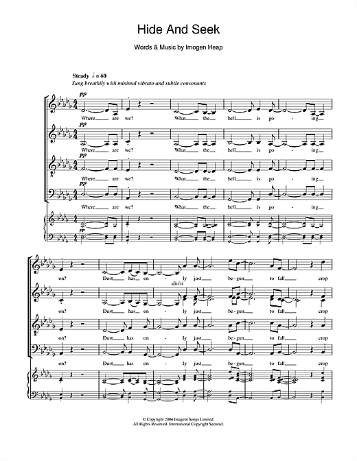 Hide And Seek Sheet Music