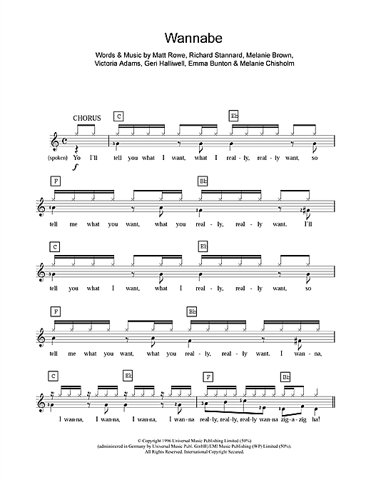 Wannabe Sheet Music