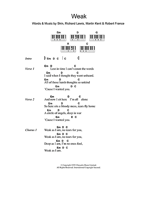 Weak Sheet Music