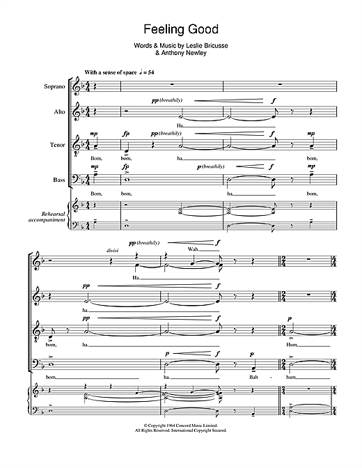 Feeling Good (SATB Choir)