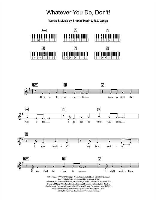 Whatever You Do, Don't! Sheet Music