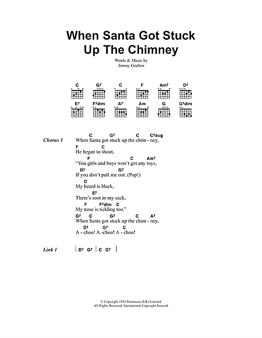 When Santa Got Stuck Up The Chimney (Guitar Chords/Lyrics)