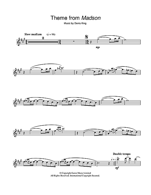 Theme from Madson Sheet Music