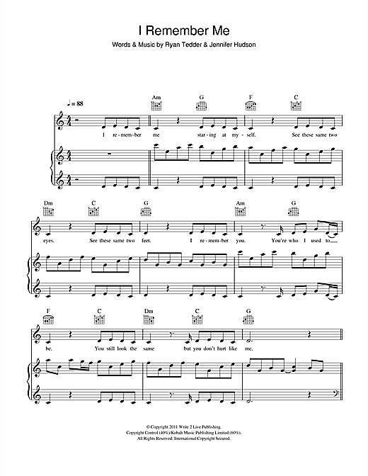 I Remember Me Sheet Music