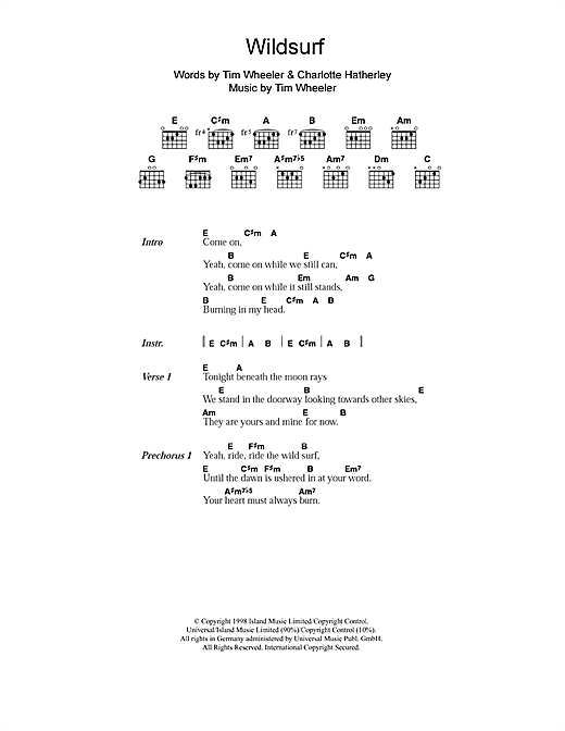 Wildsurf Sheet Music