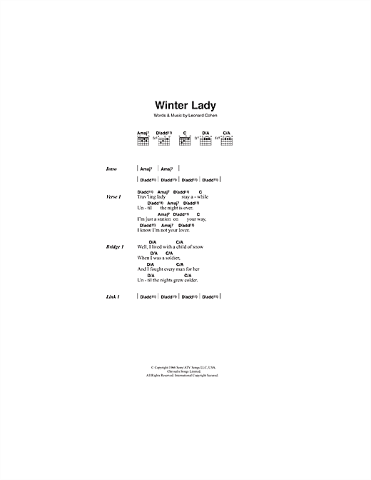 Winter Lady Sheet Music