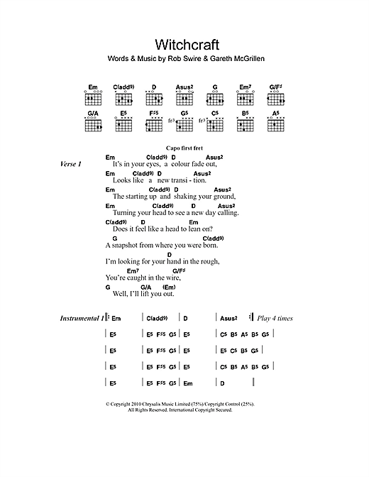 Witchcraft Sheet Music