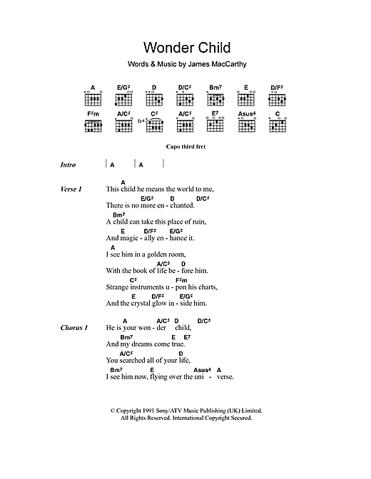 Wonder Child Sheet Music