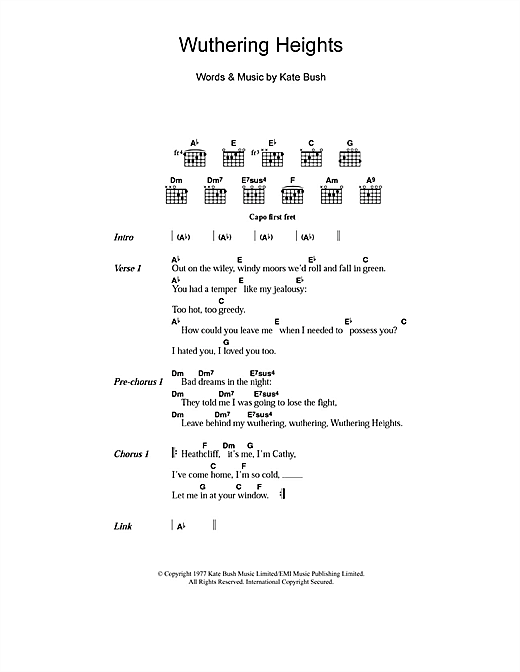Wuthering Heights Sheet Music