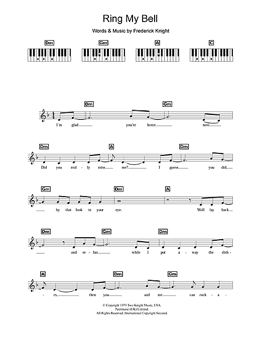 Ring My Bell Sheet Music