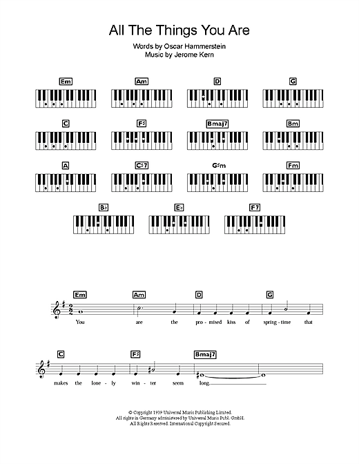 All The Things You Are Sheet Music