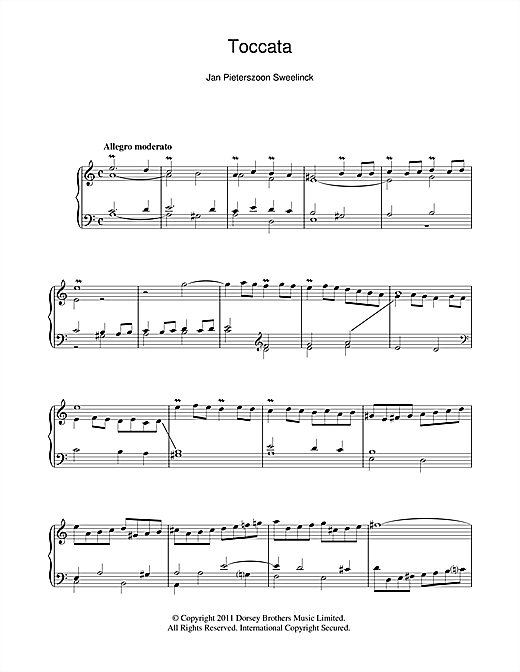 Toccata Sheet Music