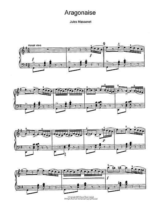 Aragonaise Sheet Music