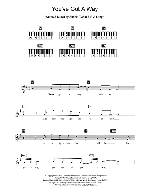 You've Got A Way Sheet Music