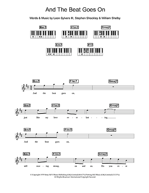And The Beat Goes On Sheet Music