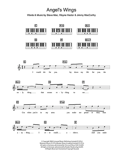 Angel's Wings Sheet Music