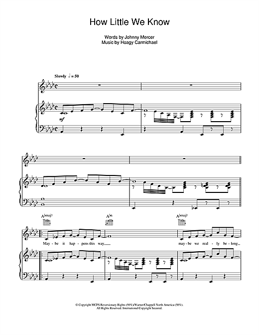 How Little We Know Sheet Music