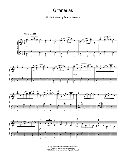 Gitanerias Sheet Music