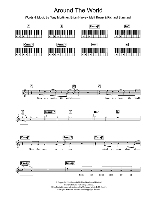 Around The World Sheet Music