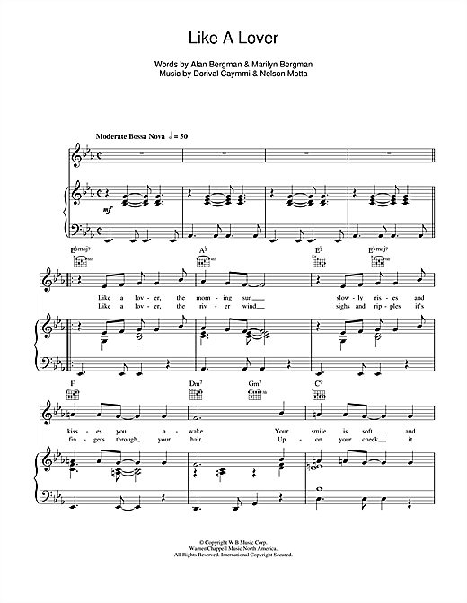 Like A Lover (Piano, Vocal & Guitar (Right-Hand Melody))