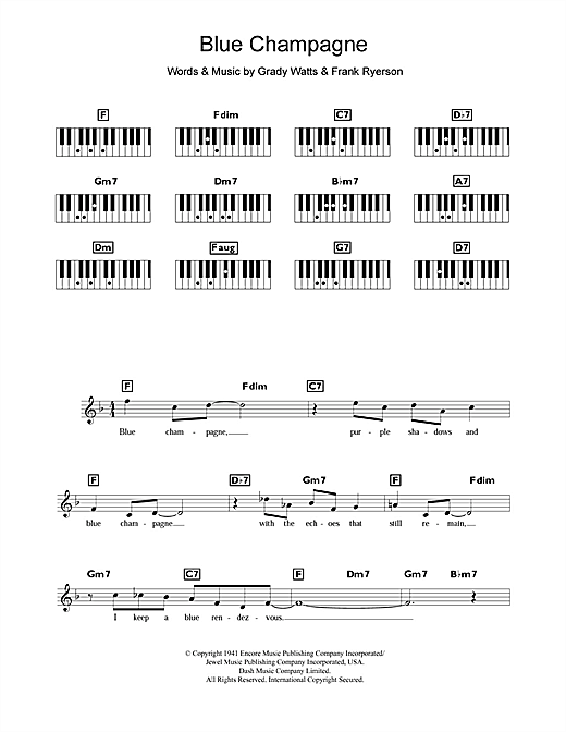 Blue Champagne Sheet Music