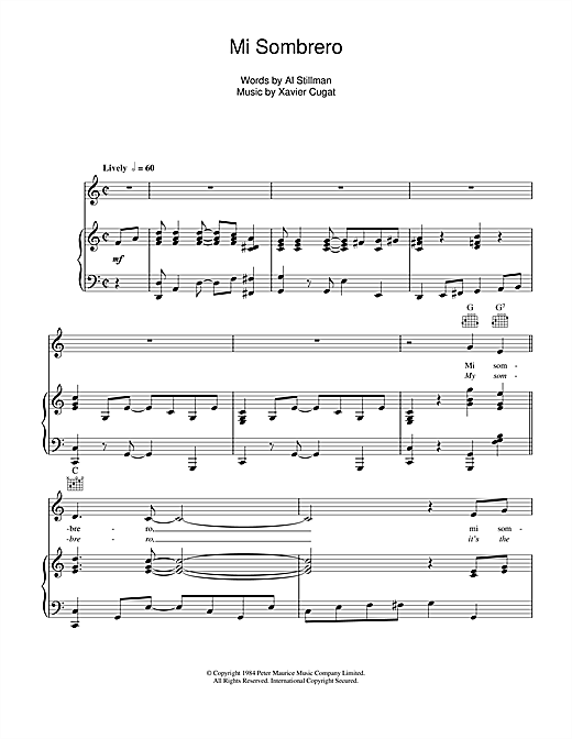 My Sombrero Sheet Music