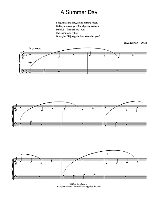 A Summer Day Sheet Music