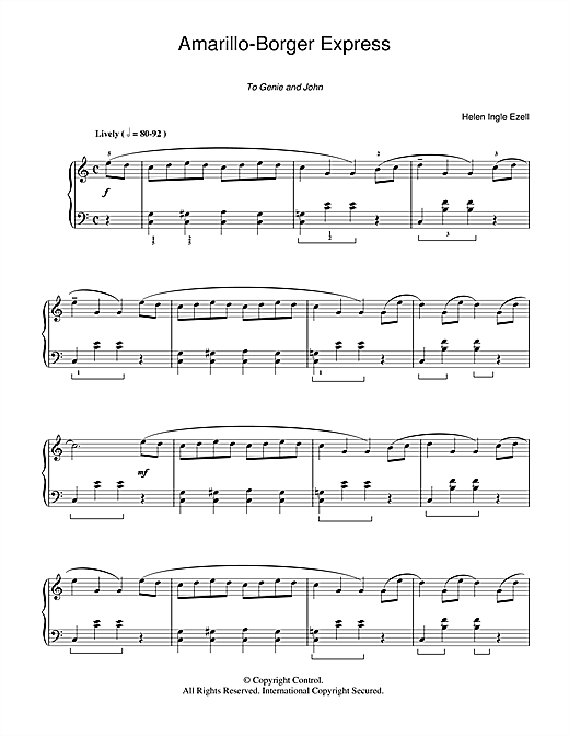 Amarillo-Borger Express Sheet Music