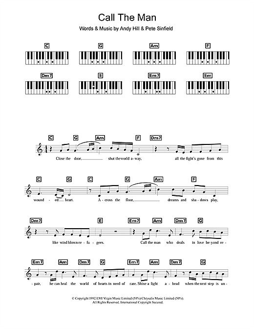 Call The Man Sheet Music