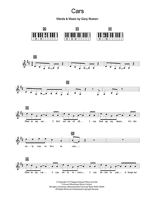Cars Sheet Music