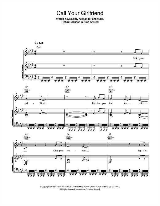 Call Your Girlfriend Sheet Music