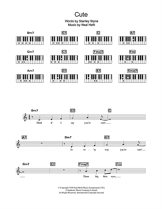 Cute Sheet Music
