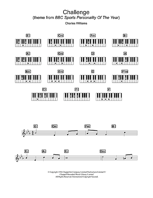 Challenge (Theme from BBC Sports Personality of the Year) Sheet Music