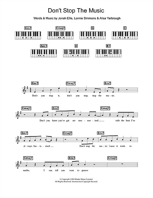 Don't Stop The Music Sheet Music