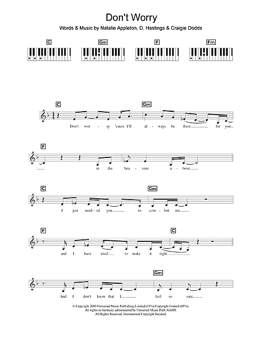 Don't Worry Sheet Music