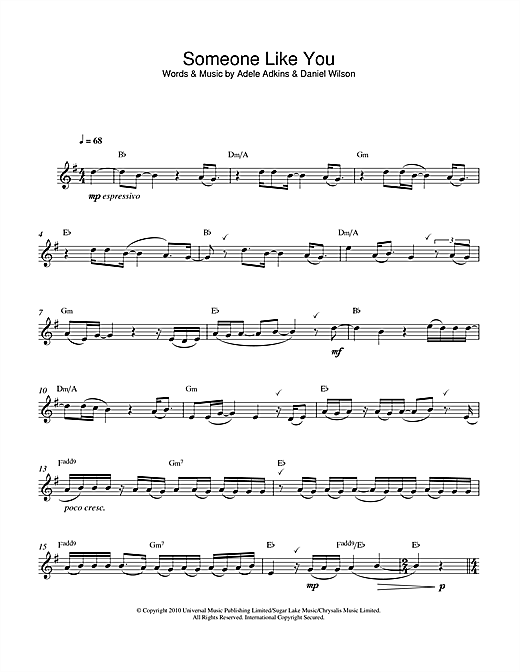 Someone Like You Sheet Music